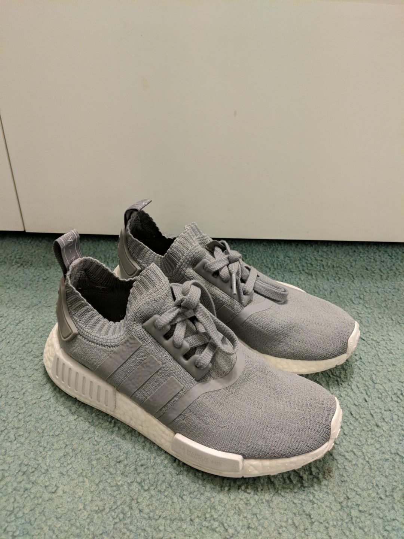 Grey Adidas NMDs