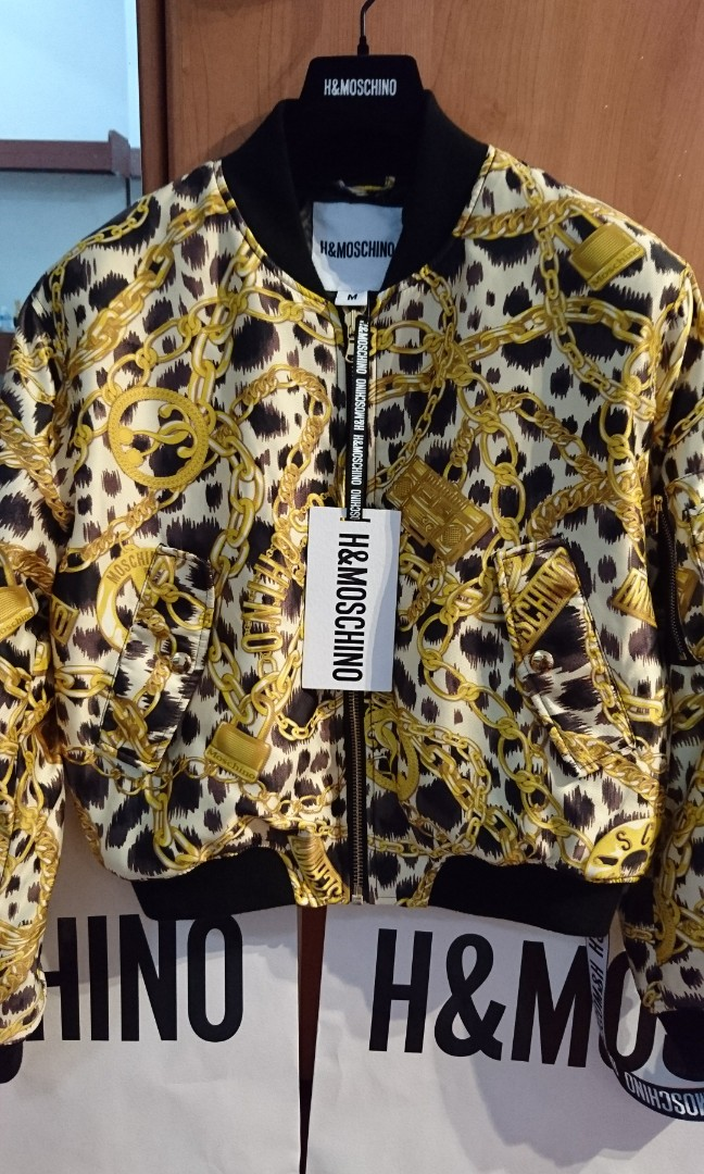 bd91ff1672 H M MOSCHINO ladies bomber jacket size M BNWT IN HAND