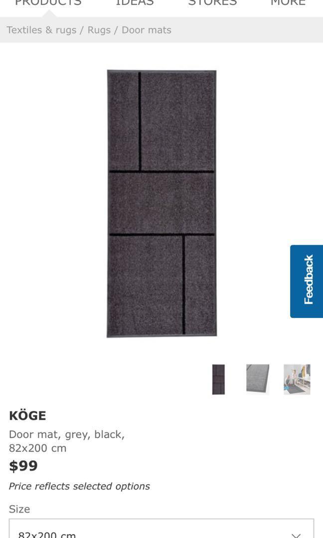 Ikea Carpet - Koge 82cm x 200cm, Furniture, Home Decor