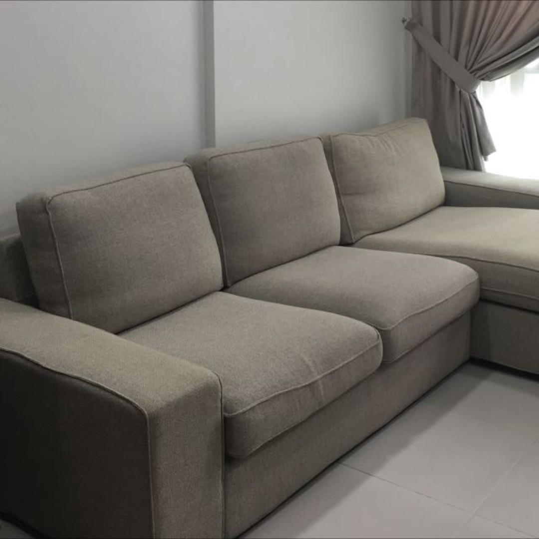 Ikea Kivik Three Seat Sofa And Chaise Longue Furniture Sofas On Carousell