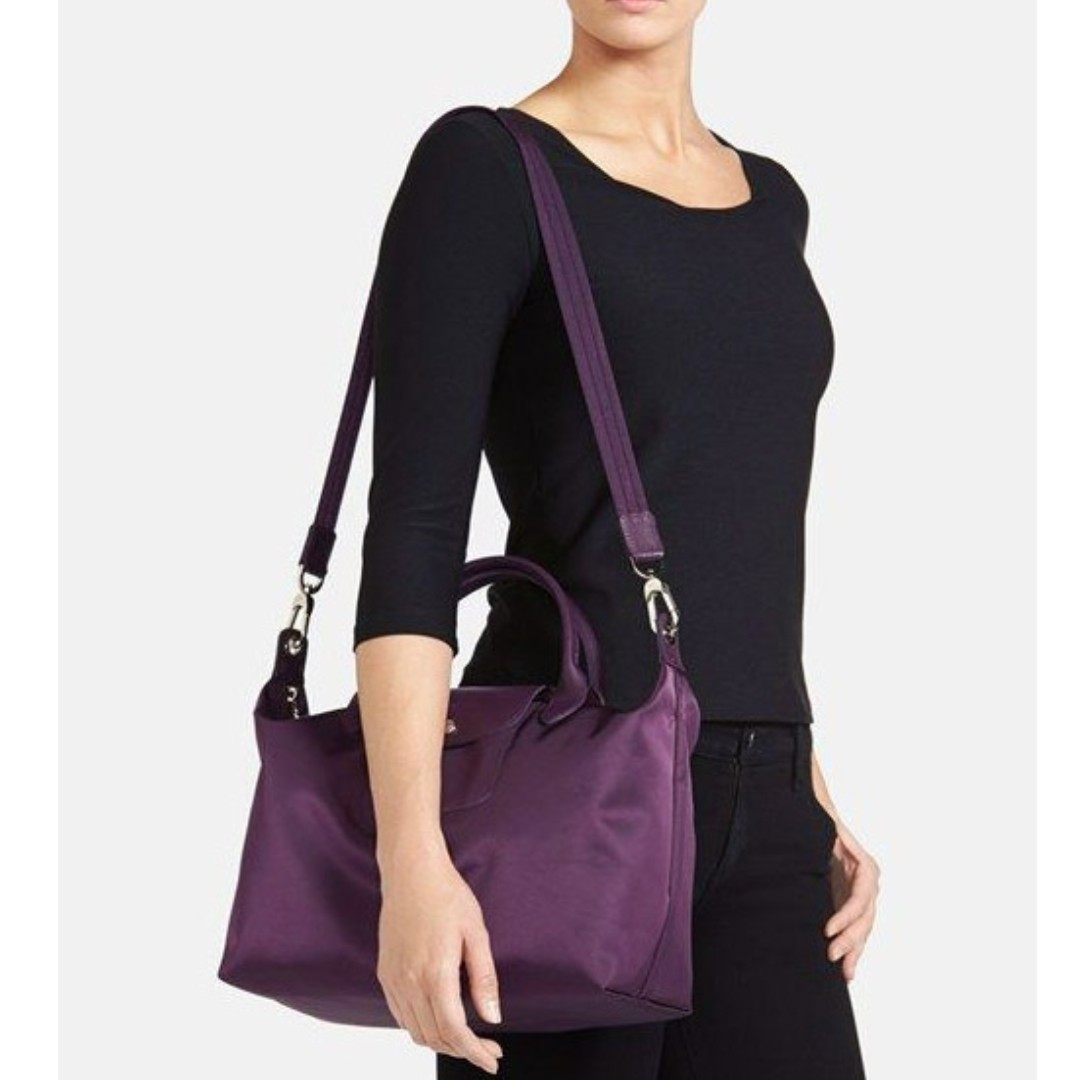 finest selection 9f6d1 6115a LONGCHAMP LE PLIAGE NEO MEDIUM TOTE 1515578 (BILBERRY)  FREE HM SHOPPING BAG  (LC021), Women s Fashion, Bags   Wallets on Carousell