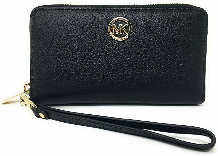 ebbd4eca4c00 Michael Kors Fulton Large Flat Leather Multifunction Wallet ...