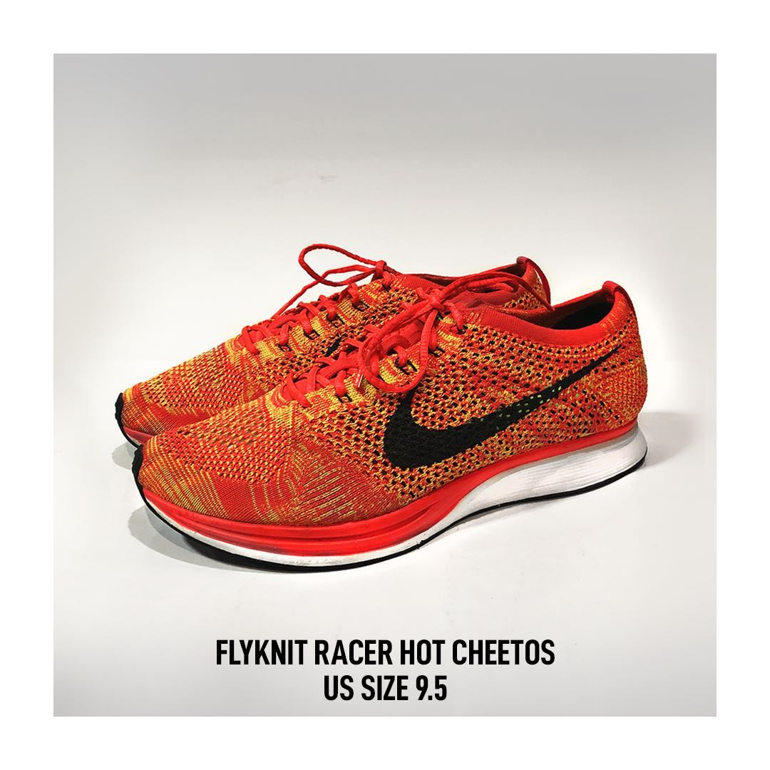 1286a125c051 Nike Flyknit Racer Hot Cheetos