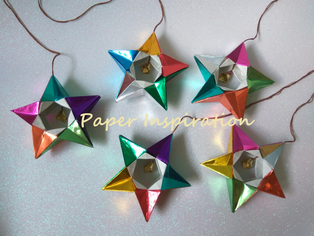 Origami Christmas Tree Ornament 3d Star