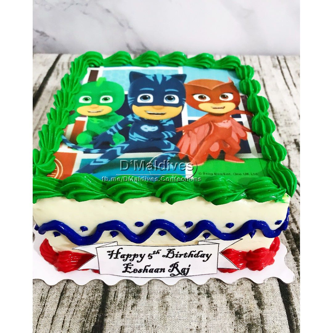 PJ Mask Edible Photos Cake Food Drinks Baked Goods On Carousell