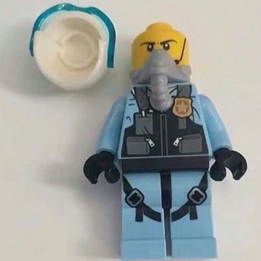 PO> LEGO City Sky Police Minifigure New for 2019, Toys