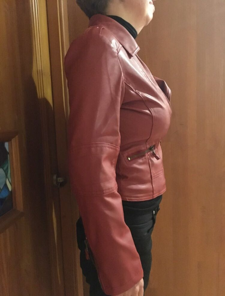 853c192203 (PO) S-4XL Plus Size 4XL Leather Jacket Women Short PU Faux Soft Basic Moto  Jackets Female Biker Motor