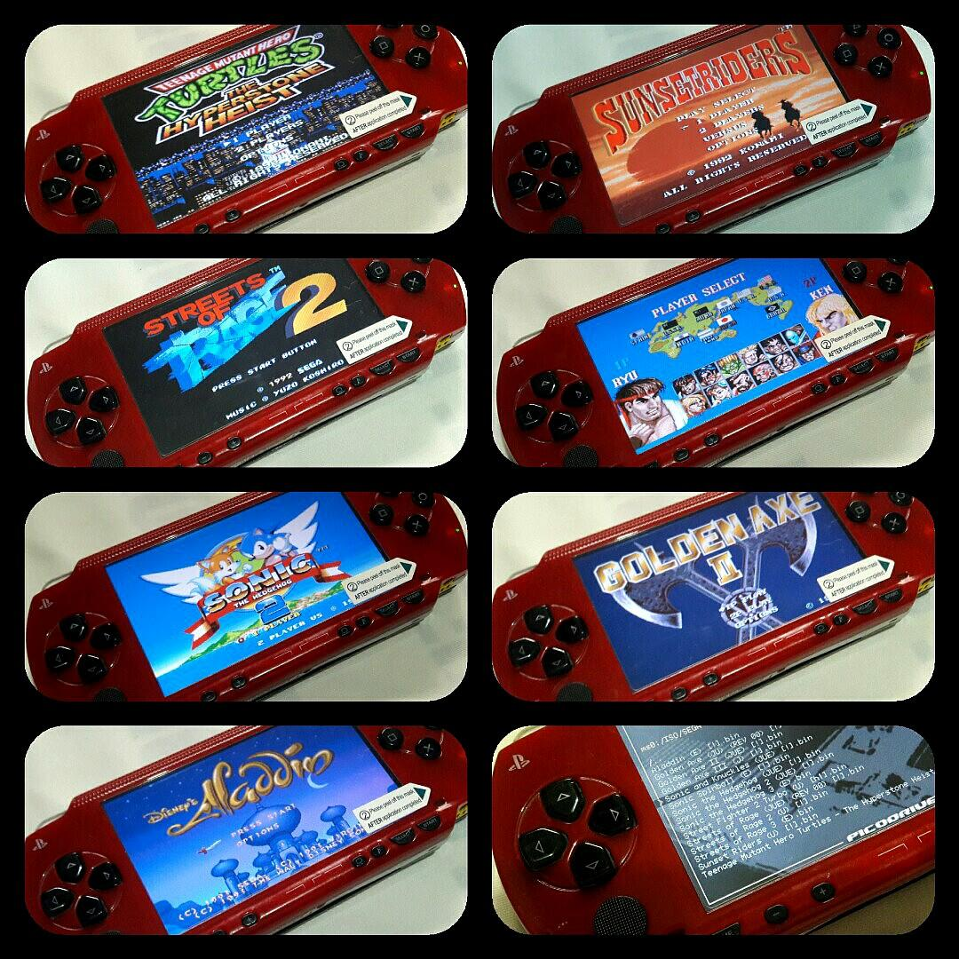 Red Black Psp Fat v6 20 8gb Downloadable, Video Gaming