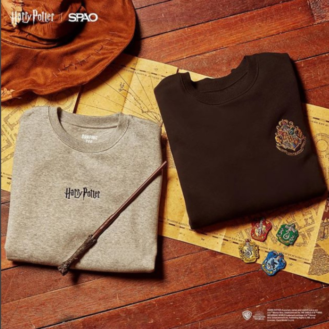 81392f1ba2 SPAO x Harry Potter Sweater, Men's Fashion, Clothes, Tops on Carousell