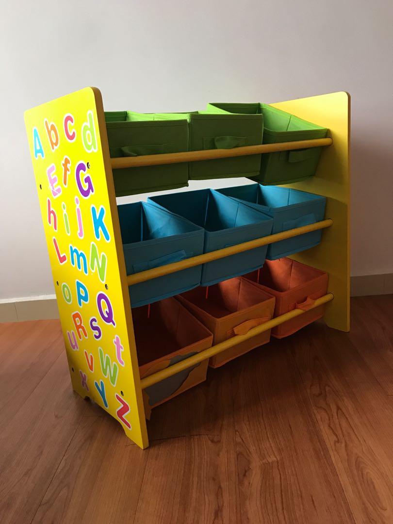 Toy Storage Organiser Rack With 9
