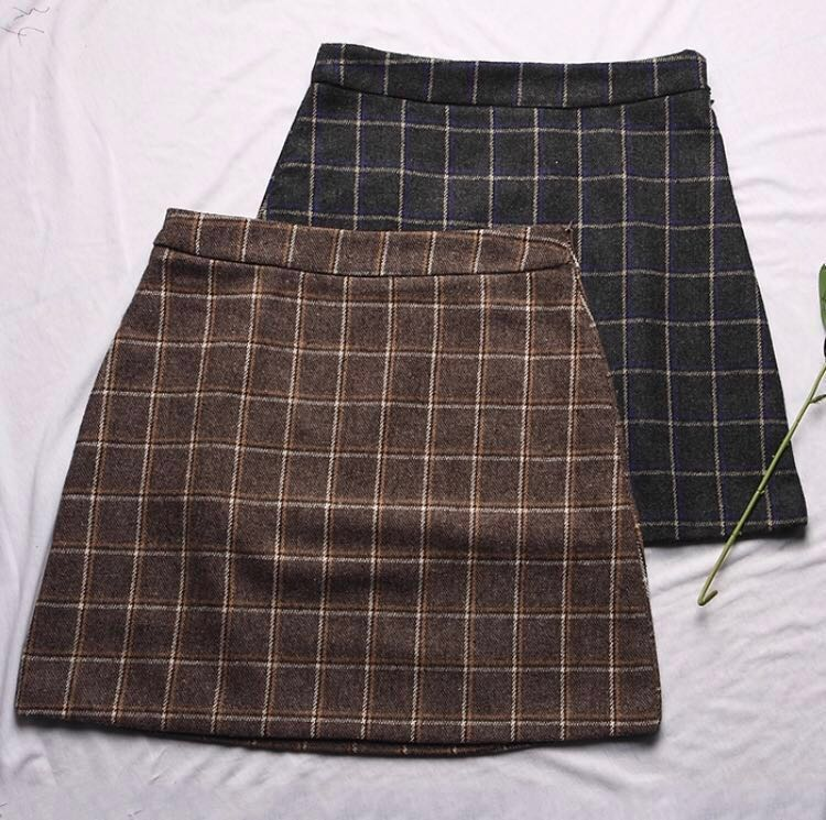 bcd2029ab ulzzang retro plaid/checkered skirt, Women's Fashion, Clothes ...