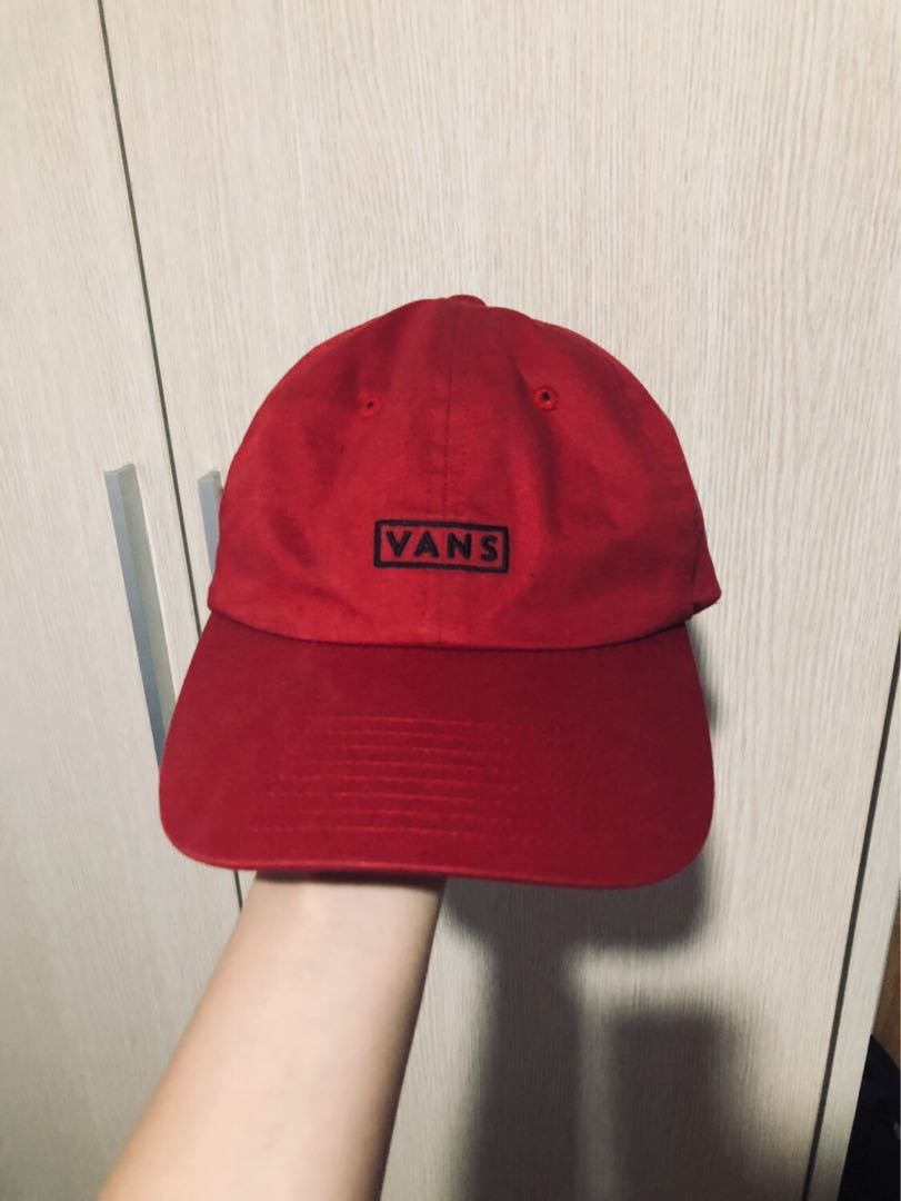 87eb4039faa Vans authentic red baseball cap