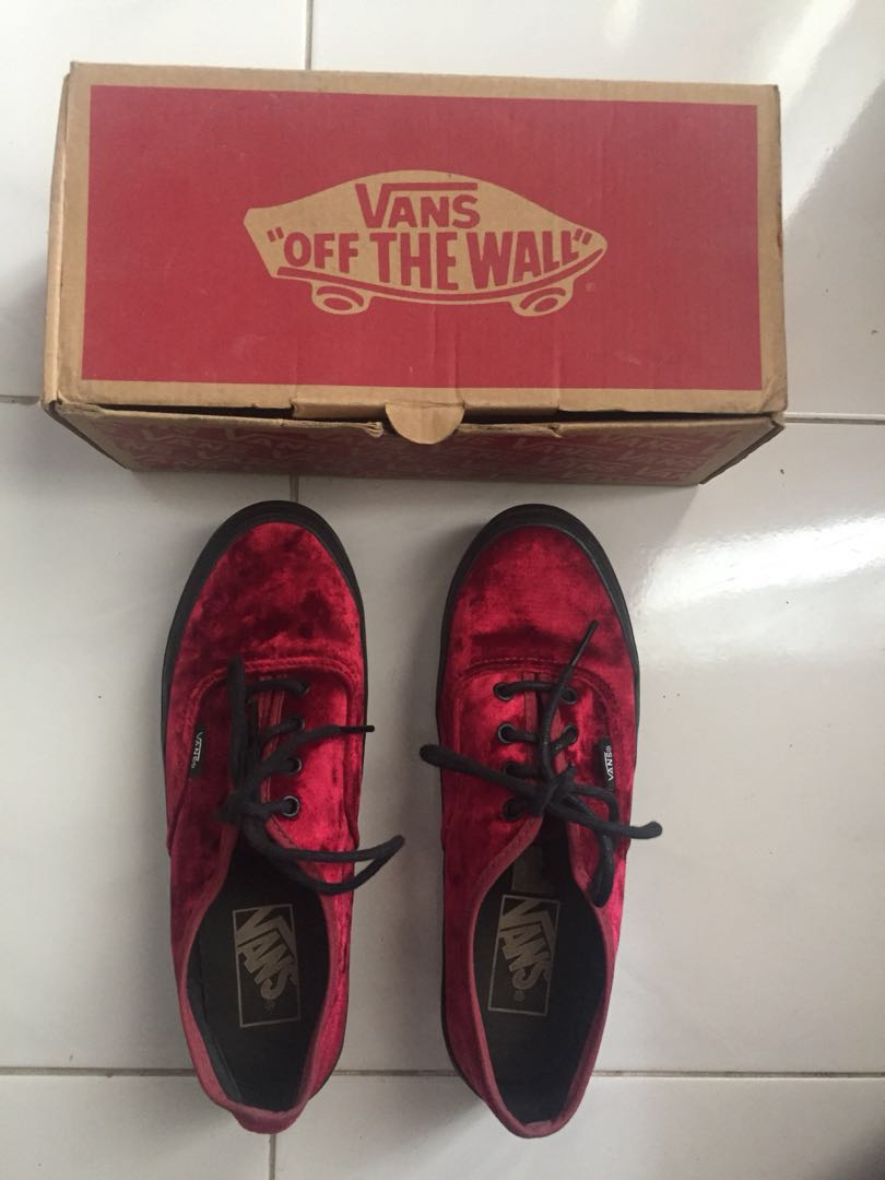 dbea397b6dc Vans red velvet platform