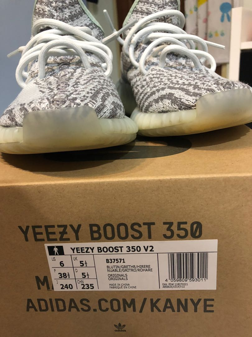 new product 16557 4eb87 Yeezy Boost 350 V2 Blue Tint (UK5.5), Women s Fashion, Shoes ...