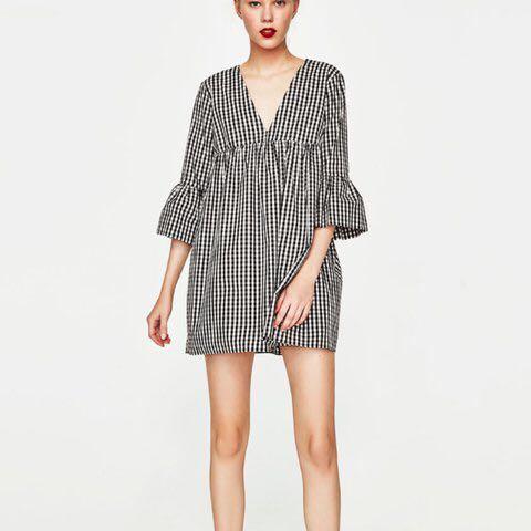 91fdcba99d6 Zara Gingham Jumpsuit Dress