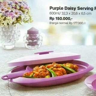 Purple Daisy Serving Platter