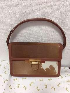 Vintage genuine horse hair 2 way bags