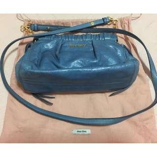 Miu Miu Blue Sling leather bag