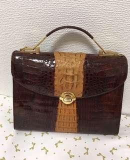 109% genuine alligator skin vintage bag