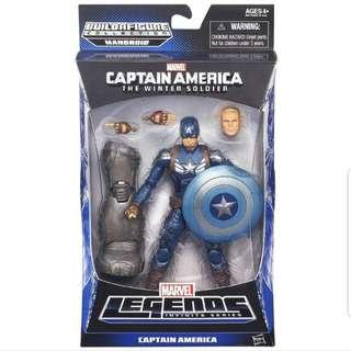 MISB Marvel Legends Captain America The Winter Soldier Captain America With Mandroid Baf Action Figure