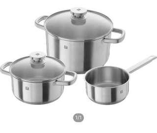 Zwilling J.A. Henckles Joy Cookware 3 piece set (Pots)