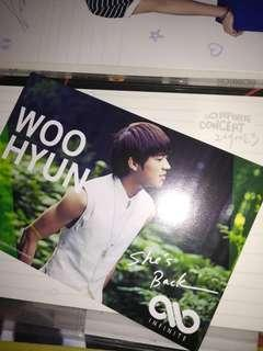 WOOHYUN SHE'S BACK JP.VER POSTCARDS