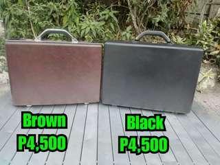 Samsonite Brown attache case or Samsonite Black briefcase