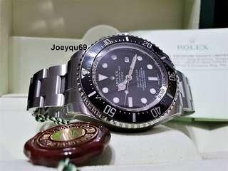 44mm ROLEX DEEPSEA Sea-Dweller 116660- Ceramic Bezel RSC Paper/Box !