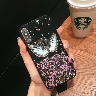 TPU Swam Shining Bling Bling Case