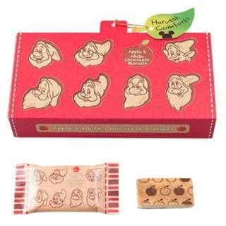 現貨_迪士尼DISNEY 七個小矮人巧克力餅乾