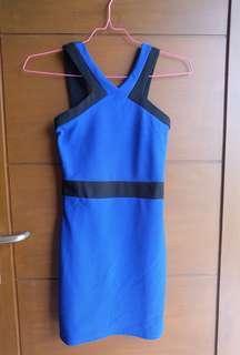 Mini dress halter neck