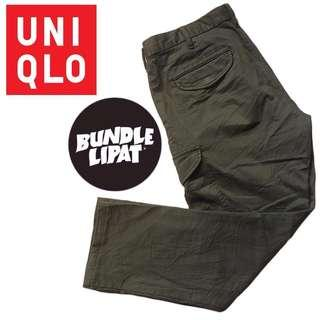 Uniqlo Cargo Pant Green Military Army