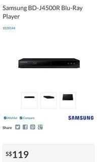 Samsung Blu Ray player- BD J4500R