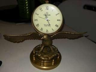 Omega Brass Table Clock