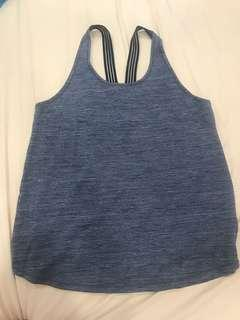 🚚 Cotton On Active Grey Criss Cross Tank Top