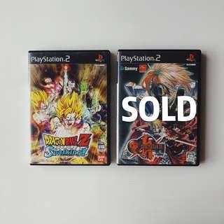 PlayStation PS2 Dragon Ball Z , Guilty Gear XX