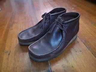 Clarks Wallabees Brown Leather UK8 US9