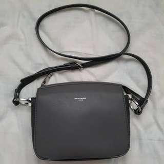 David Jones Grey Crossbody Bag
