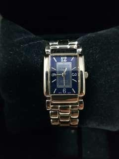 Coach watch for ladies with stainless steel bracelet blue dial