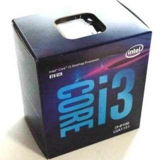 intel Core i3 8100 四核處理器 Quad core CPU 八代 Coffeelake