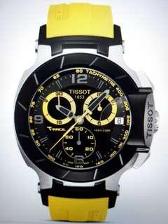 Tissot T-Race Chronograph Yellow Rubber Black Dial  model T04841705703