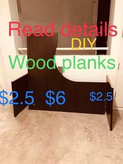 Ikea L shaped table Wooden part for shelf DIY laminate plank
