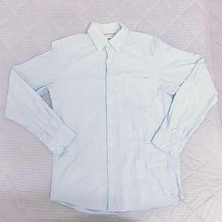 Uniqlo 牛津襯衫 淺藍