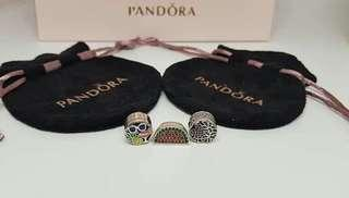 AUTHENTIC PANDORA CHARMS - COMPLETE WITH BOX AND PAPERBAG