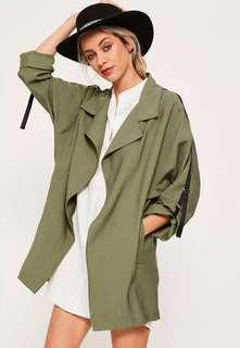 Missguided khaki parka coat