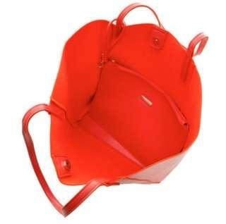【JESSICA】托特包 2件組/ 手拿包 / 子母包(橘紅)