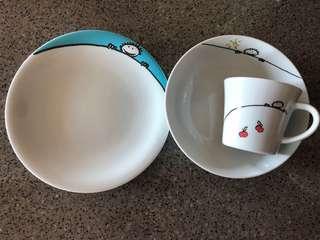 Kahla porcelain kid plate set