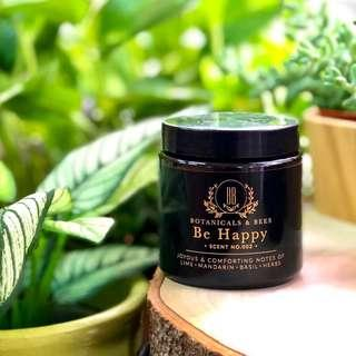 SOLD OUT Botanicals And Bees© Scented Soy Candle - #002 Be Happy
