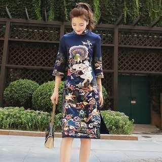 Brand New Fashion Elegant Event Wear Dress With Embroidery CheongSam