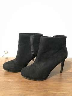 F21 Black Ankle Bootie